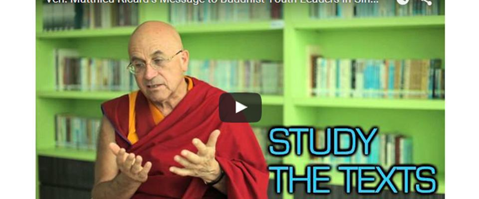 Mathieu Ricard's message to Buddhist Youths