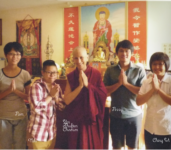 Photo with Ven Thubten Chodron 2