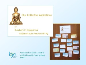 Our collective aspirations for Buddhism in Singapore and BuddhistYouth Network - 16 May 15