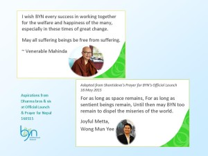 Aspirations from Ven Mahinda and Bro Mun Yee from Malaysia