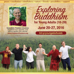Ven Chodron Young Adults prog Jun 2016