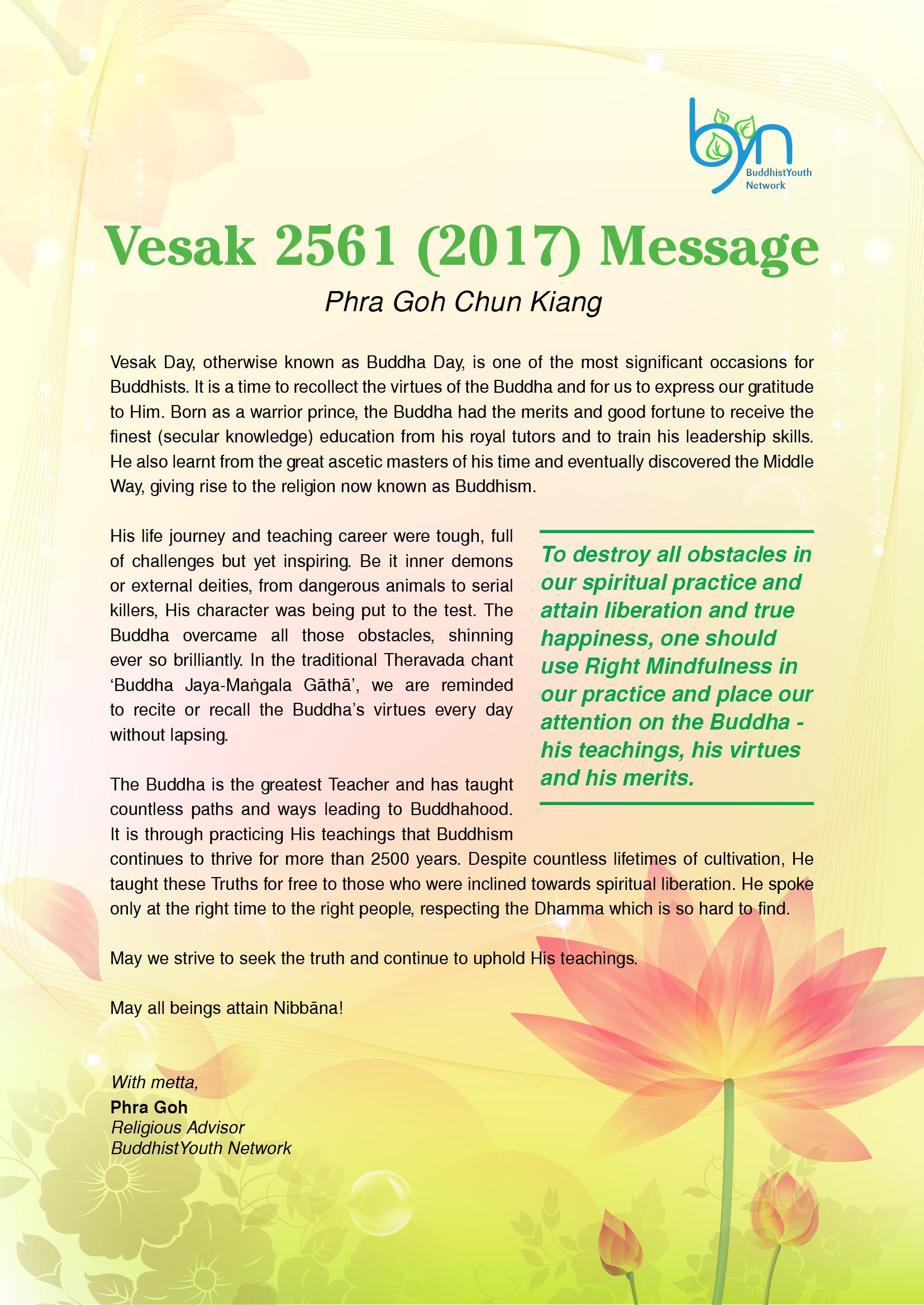 Happy Vesak 2561 (2017) – BuddhistYouth Network